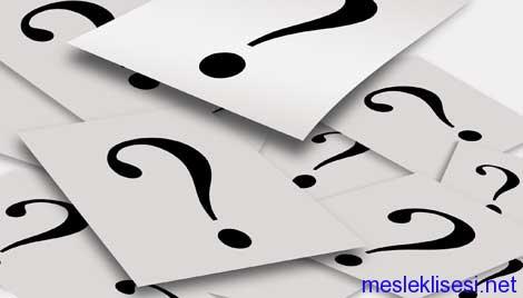 Mesleki Gelişim Dersi iletişim modülü çalışma soruları