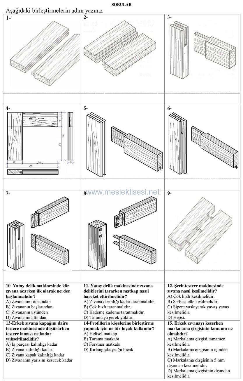 mobilya yapım teknikleri dersi