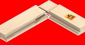 Açık zıvanalı 2/3 lambalı çerçeve köşe birleştirme