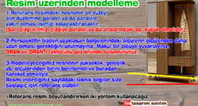 Autocad referans resim üzerinden modelleme nasıl yapılır