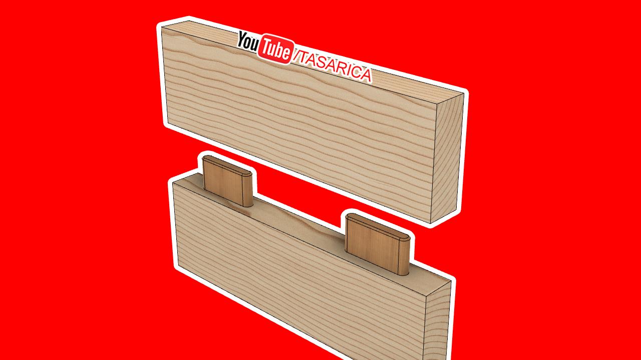 Yabancı Zıvanalı En Birleştirme. (wood joint techniques)