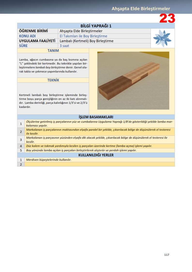 Lambalı (Kertmeli) Boy Birleştirme-Birleştirme Teknikleri Dersi