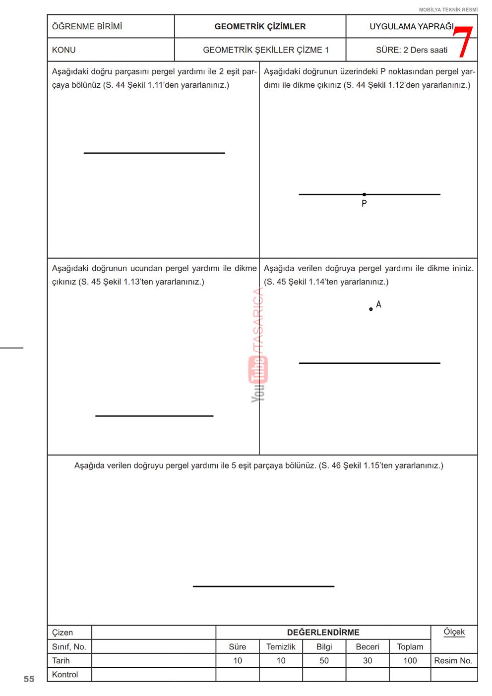 Teknik Resim Geometrik Çizimler