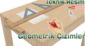 Teknik Resim Geometrik Çizimler Uygulama Yaprakları -8