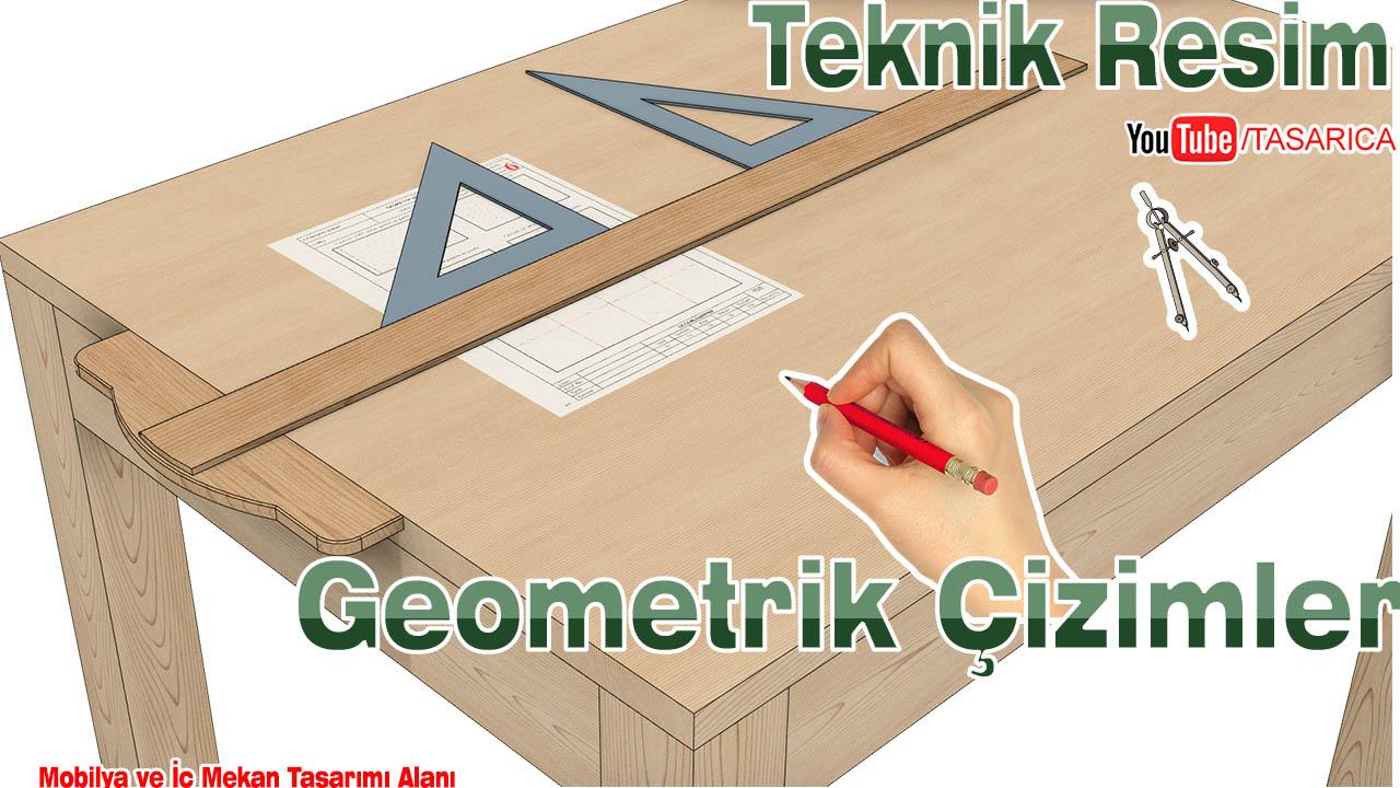 Teknik Resim Geometrik Çizimler Uygulama Yaprakları -9