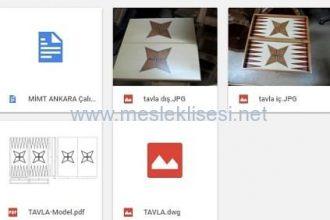 Ahşap tavla yapımı, tavla çizimi, dwg, pdf iş resmi